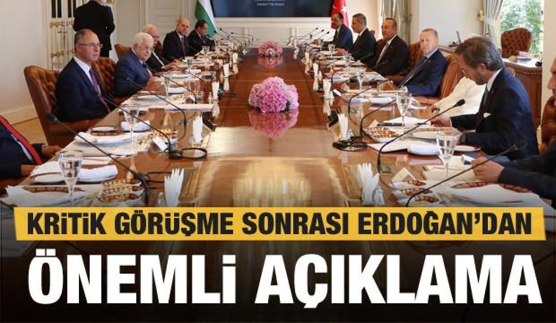 Cumhurbaşkanı Erdoğan'dan kritik görüşme sonrası son dakika açıklamaları