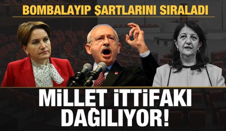 Son dakika: Millet İttifakı dağılıyor! HDP resti çekip şartlarını sıraladı!