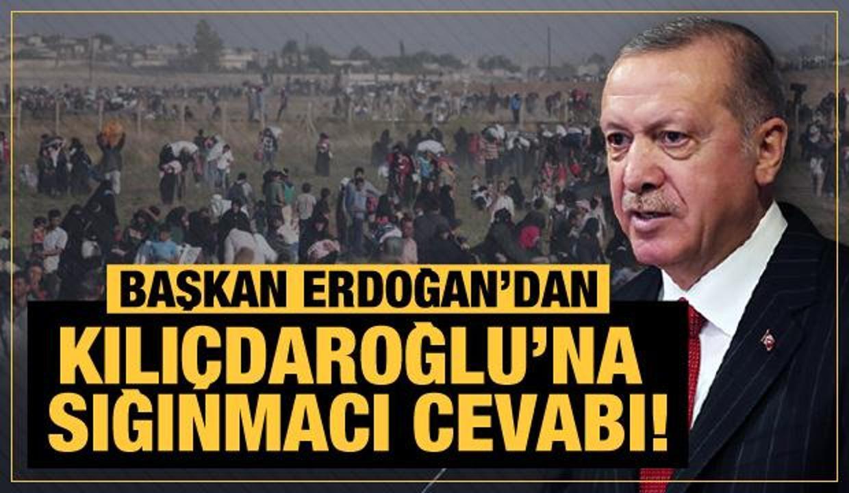 Son Dakika... Başkan Erdoğan'dan Kılıçdaroğlu'na sığınmacı cevabı!