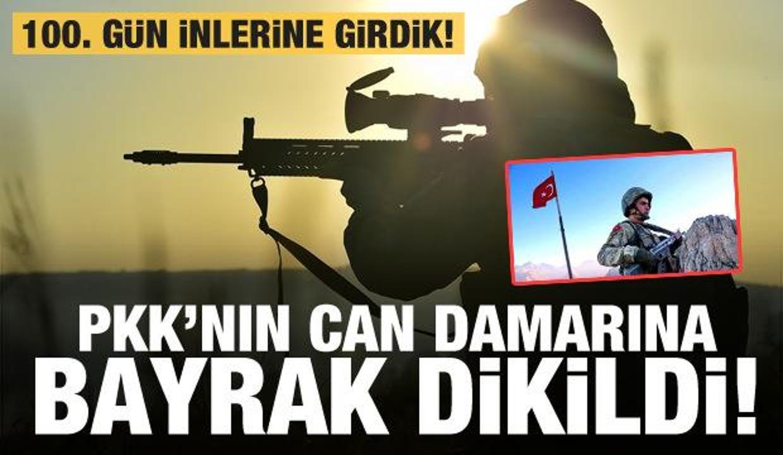 PKK'nın can damarına bayrak dikildi! 100. günde inlerine girdik