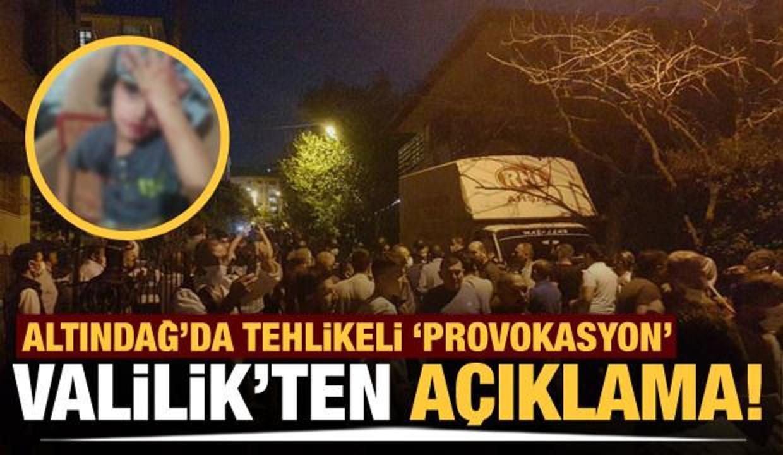 Altındağ'da çirkin tahrik! Halk sokağa döküldü
