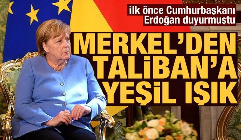 """Merkel: """"Taliban ile müzakere etmeye çalışmalıyız"""""""