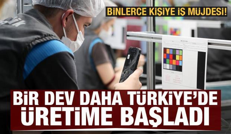 Türkiye'de üretime başladı! 2 bin kişiye iş müjdesi