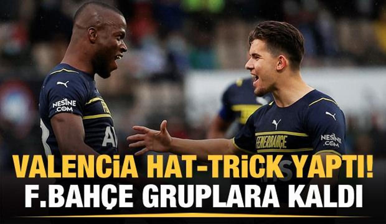 Valencia şov yaptı! Fenerbahçe gruplara kaldı