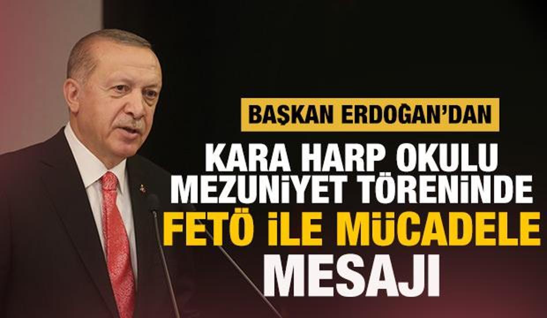 Kara Harp Okulu'nda mezuniyet töreni! Başkan Erdoğan'dan önemli mesajlar
