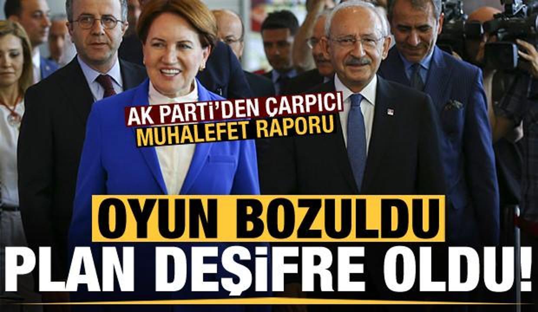 Son dakika: AK Parti'den çarpıcı muhalefet raporu! Oyun bozuldu, plan deşifre oldu