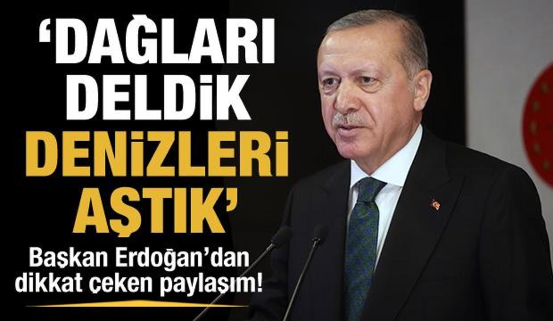 Cumhurbaşkanı Erdoğan, son 19 yılda yapımı tamamlanan tünellere ilişkin paylaşımda bulundu