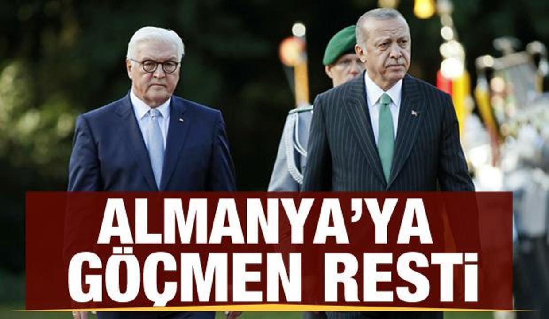 Cumhurbaşkanı Erdoğan'dan Almanya'ya 'göçmen' resti