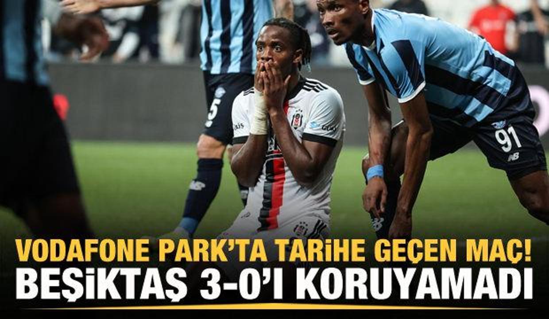 Beşiktaş 3-0'ı koruyamadı!