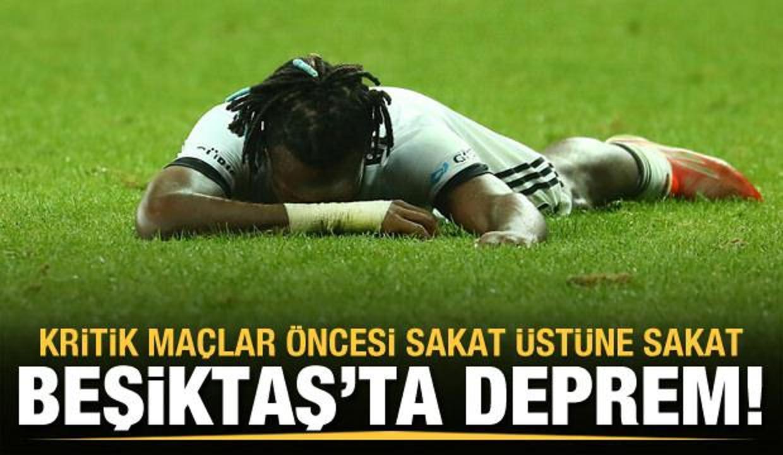 Beşiktaş'a şok üstüne şok! Bir sakat daha