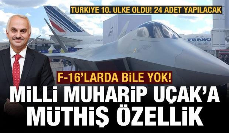 Milli Muharip Uçak'a müthiş yenetek! F-16'larda bu özellik yok