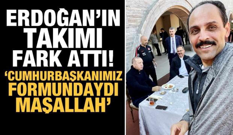 Cumhurbaşkanı Erdoğan'ın basketbol keyfi!