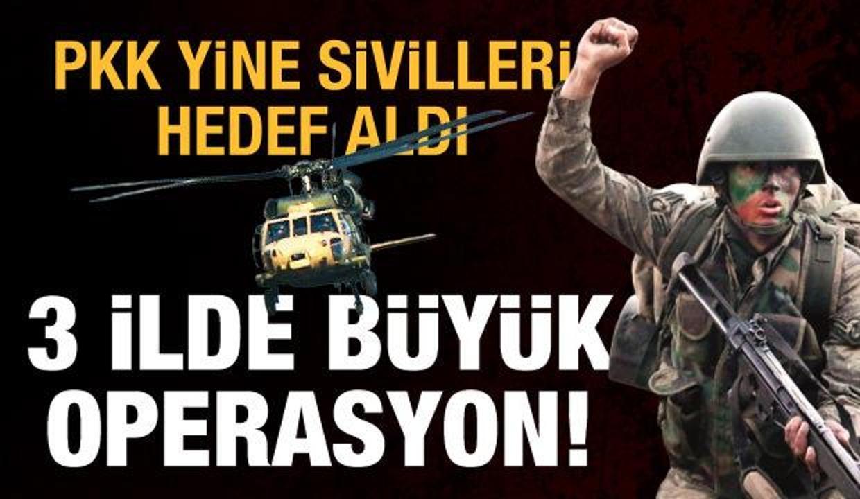 Son dakika haberi: PKK'dan hain saldırı! 3 ilde büyük operasyon başlatıldı
