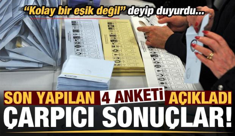 Son dakika: AK Parti'nin son 4 anketinin sonuçları belli oldu! Vaziyet neyi gösteriyor?