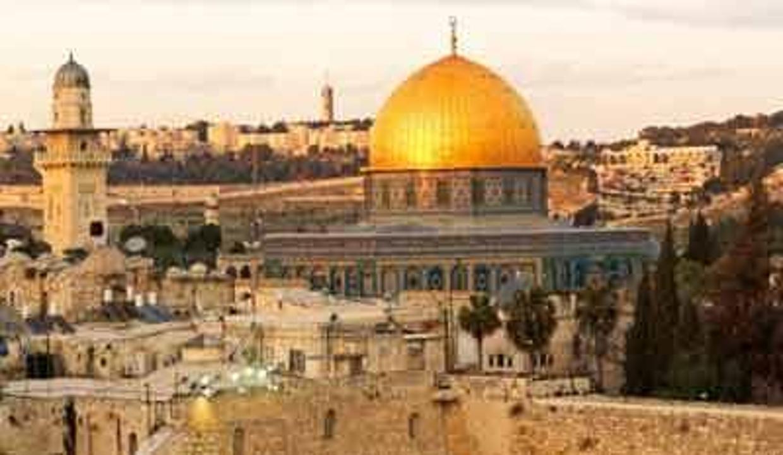 Kudüs'e Kırmızı Minare'den bakış