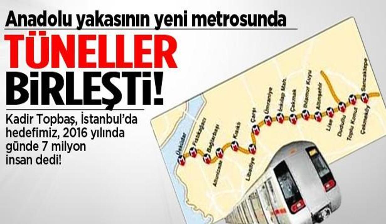 Üsküdar-Çekmeköy metro tünelleri birleşti