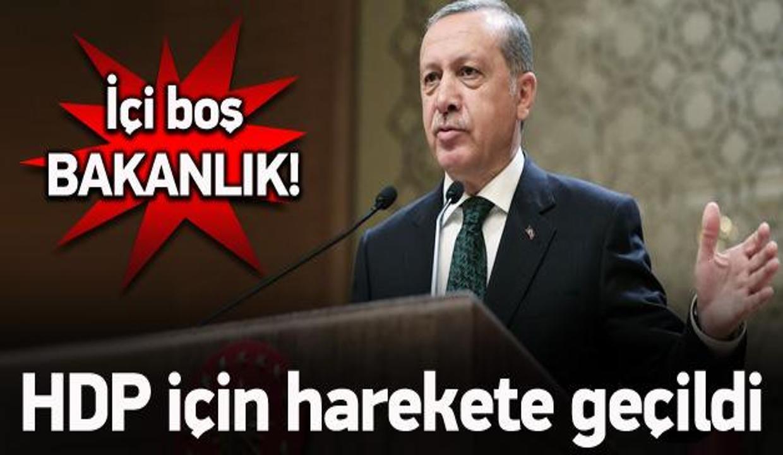 Çalışmalar başladı! HDP'ye 'içi boş bakanlık'