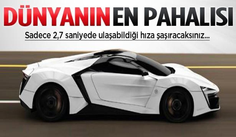 Dünyanın en pahalı arabası geliyor